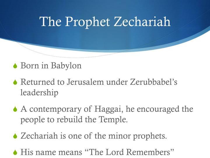 The Prophet Zechariah