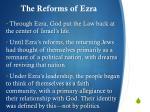 the reforms of ezra