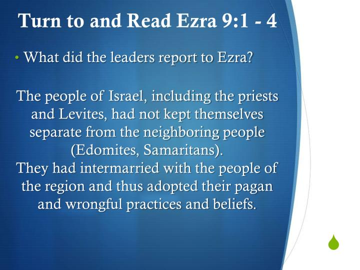 The people of Israel, including the priests and Levites, had not kept themselves separate from the neighboring people (
