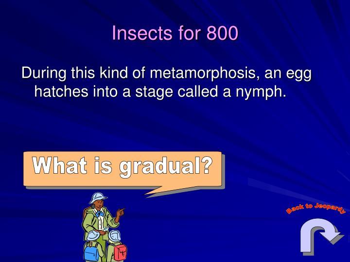 What is gradual?