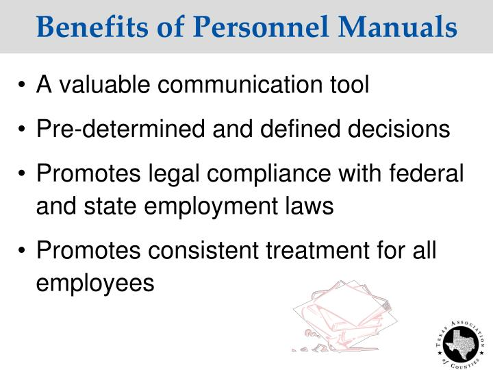 Benefits of Personnel Manuals