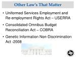 other law s that matter