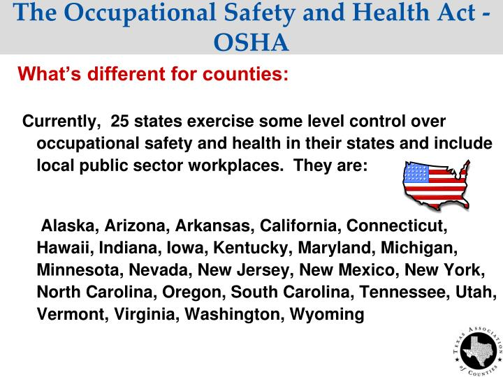 The Occupational Safety and Health Act - OSHA