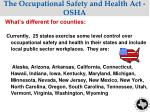 the occupational safety and health act osha2