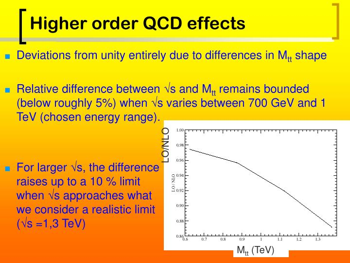Higher order QCD effects