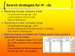 search strategies for h tb