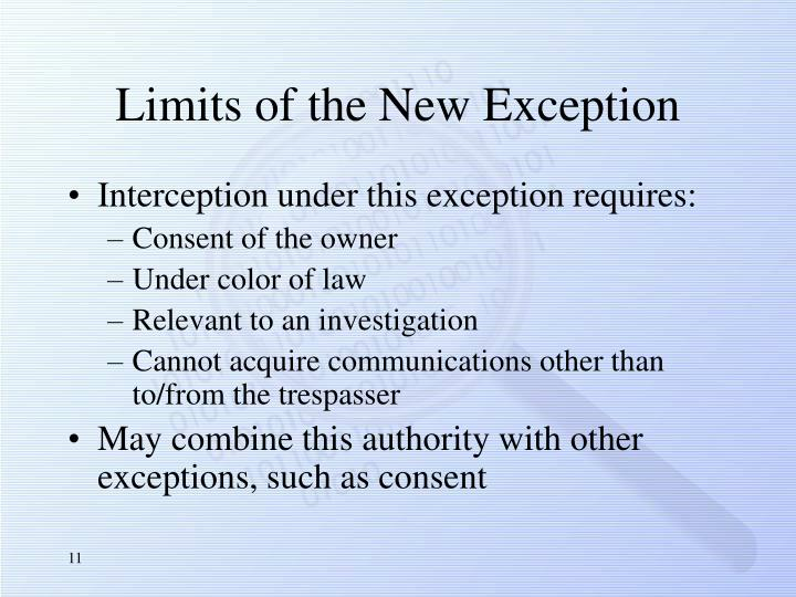Limits of the New Exception