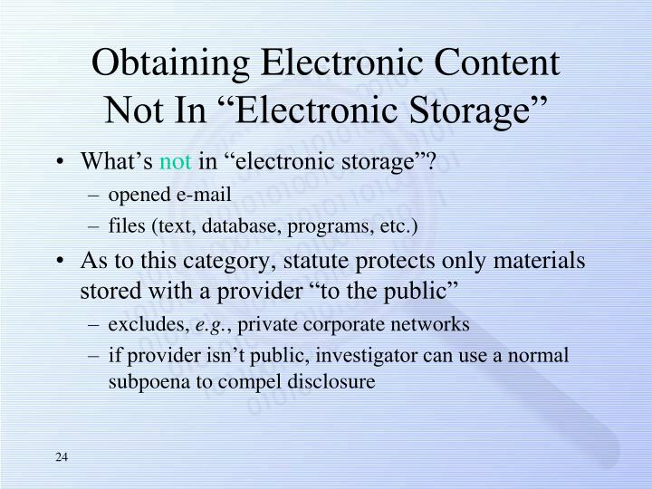 Obtaining Electronic Content
