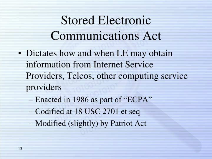 Stored Electronic Communications Act