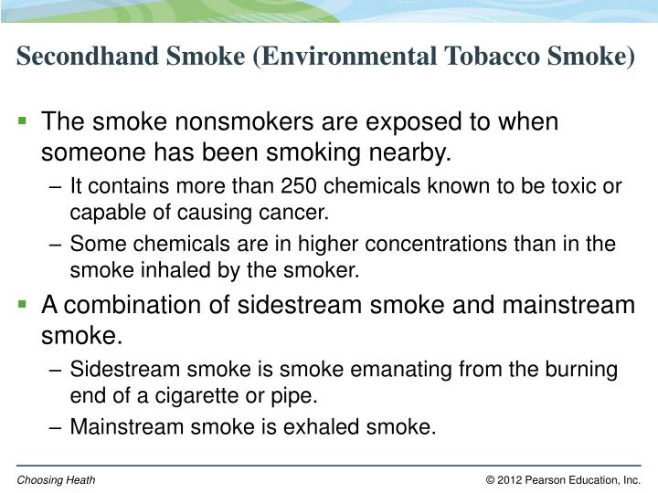 Secondhand Smoke (Environmental Tobacco Smoke)