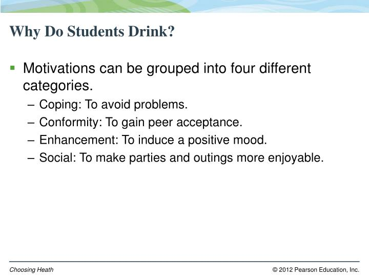 Why Do Students Drink?