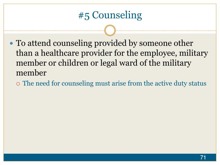 #5 Counseling