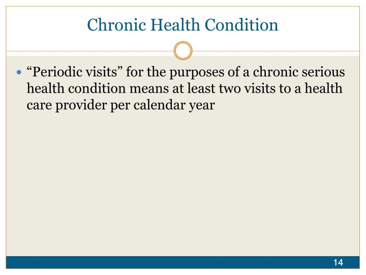 Chronic Health Condition