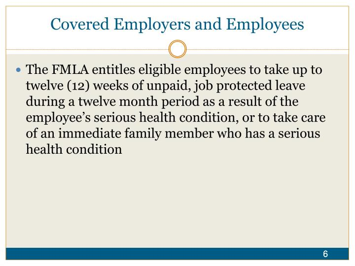 Covered Employers and Employees