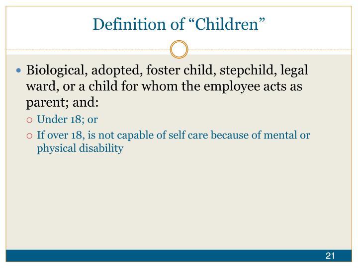 """Definition of """"Children"""""""