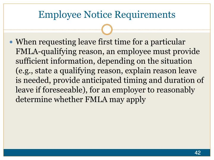 Employee Notice Requirements