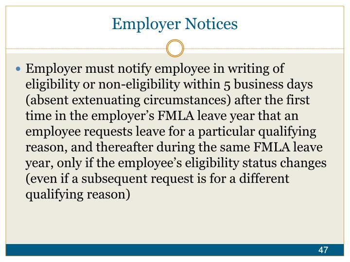 Employer Notices