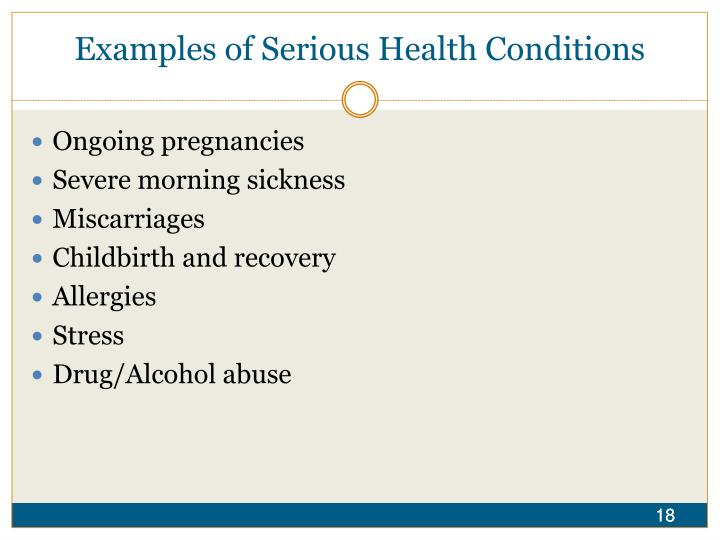 Examples of Serious Health Conditions