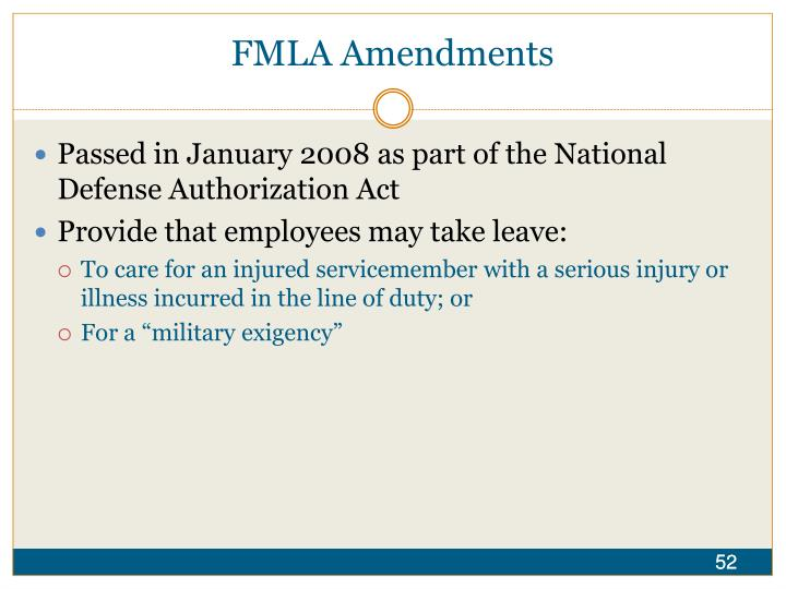 FMLA Amendments