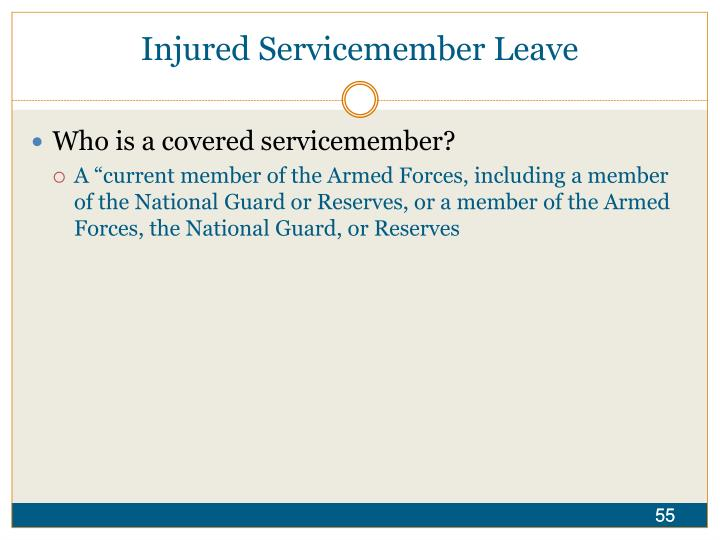 Injured Servicemember Leave