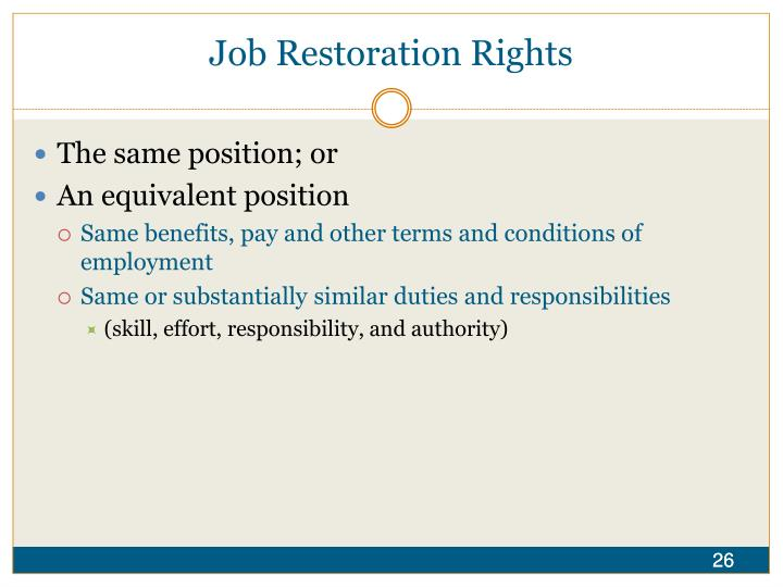 Job Restoration Rights