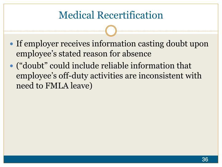 Medical Recertification