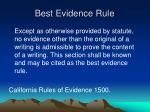 best evidence rule1