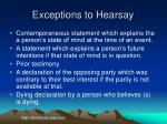 exceptions to hearsay2