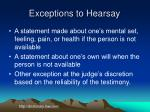exceptions to hearsay3