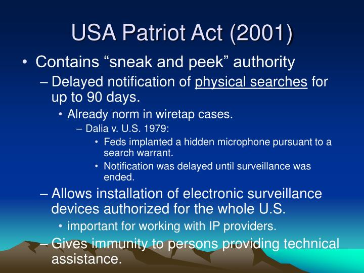 USA Patriot Act (2001)