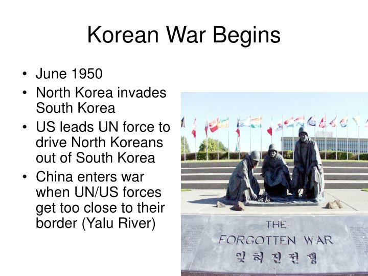 Korean War Begins