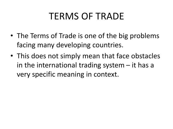 Ib economics terms of trade
