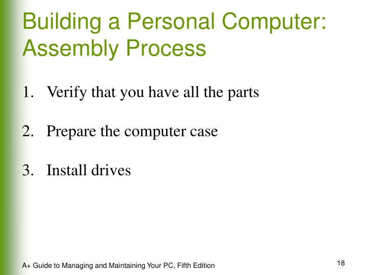 Building a Personal Computer: Assembly Process