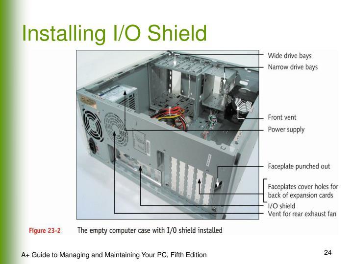Installing I/O Shield