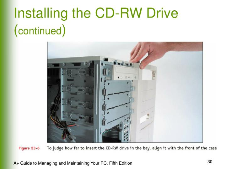 Installing the CD-RW Drive (