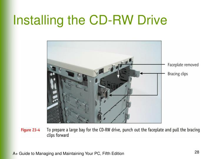 Installing the CD-RW Drive