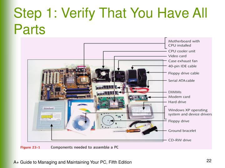 Step 1: Verify That You Have All Parts
