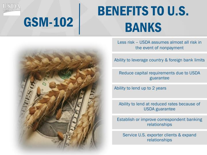 Benefits to u.s. Banks