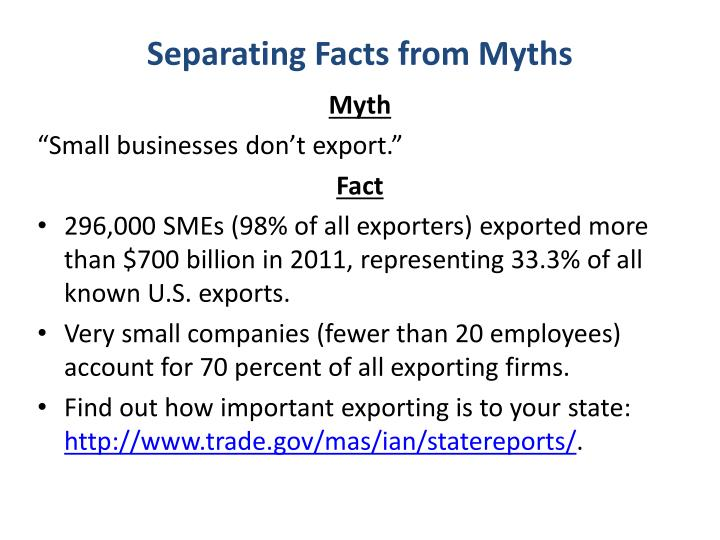Separating Facts from Myths
