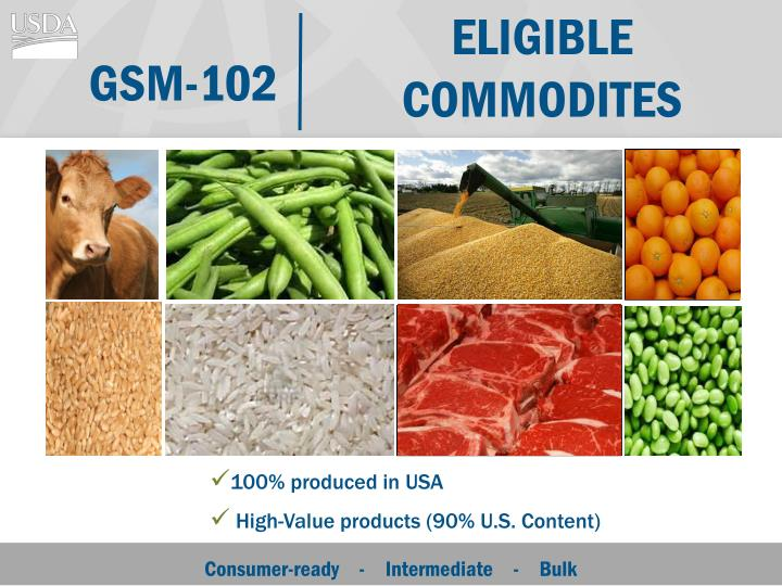 ELIGIBLE COMMODITES