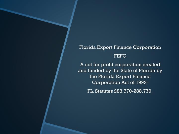 Florida Export Finance Corporation