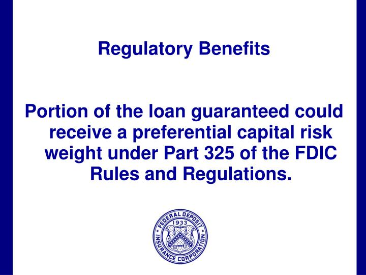 Regulatory Benefits