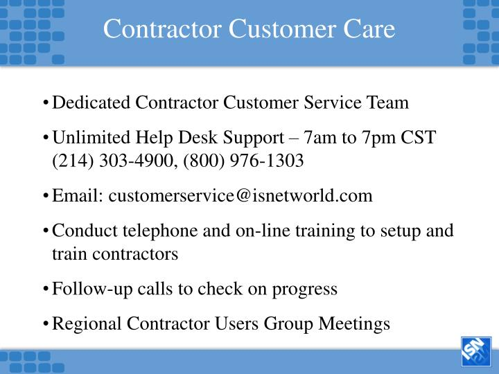 Contractor Customer Care