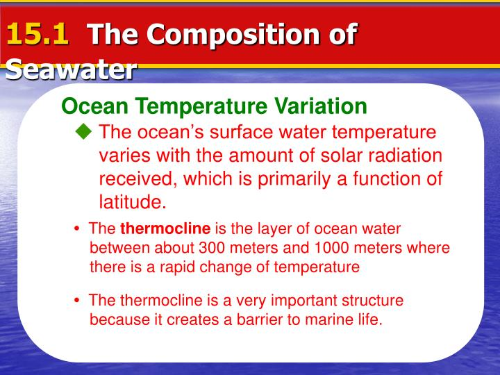 the importance of density salinity and temperature in the study of oceanography Oceanography study guide  important in cell physiology, water surface processes, and drop formation measures cohesion at the surface decreasing temperature increases surface tension  the density of seawater is controlled by temperature, salinity, and pressure effects.