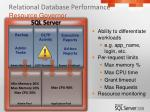 relational database performance resource governor