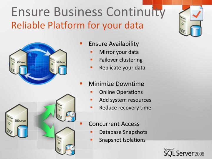 Ensure Business Continuity