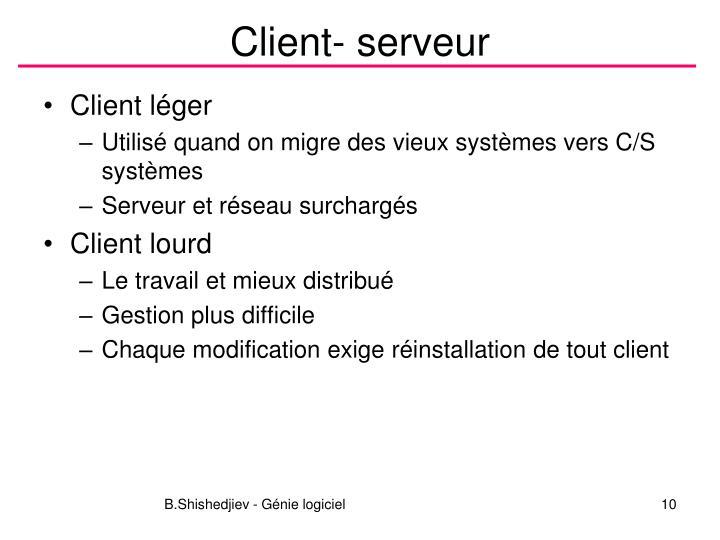Client- serveur