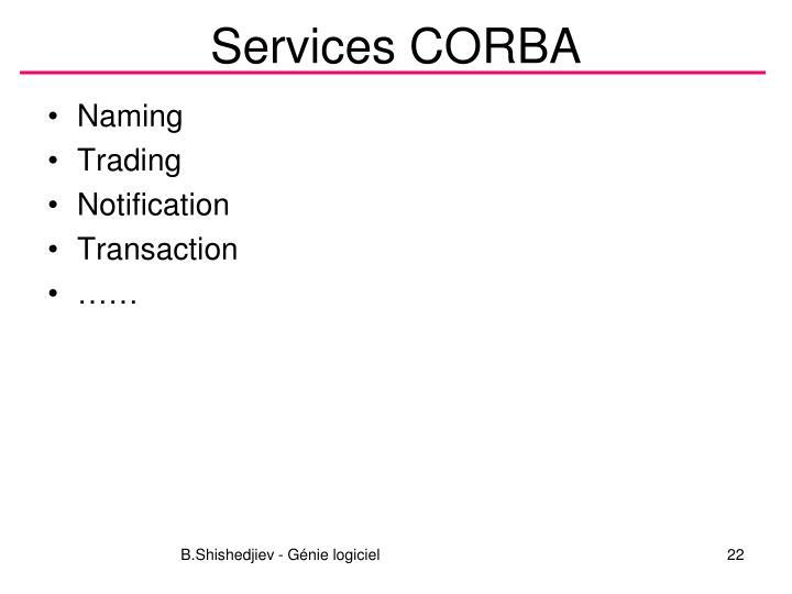 Services CORBA