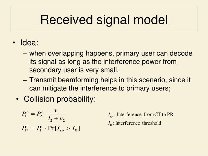 Received signal model