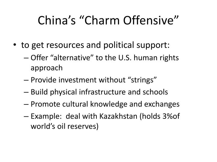 "China's ""Charm Offensive"""